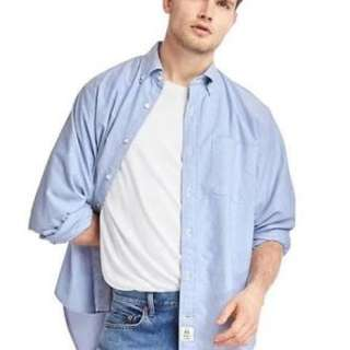 Authentic GAP The Big Oxford Long Sleeved Shirt