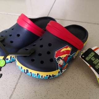 Crocs Crocband Superman Kids' Glow in the Dark Clogs