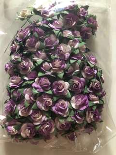 DIY tiny flowers in purple