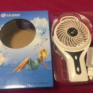 LILENG噴濕氣手提風扇