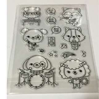 animal Band Clear Stamp