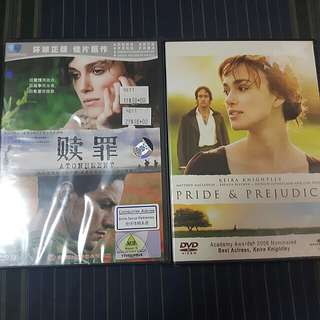 Both for $5 Pride & Prejudice and Atonement DVD