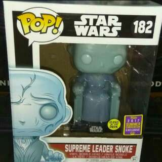 Supreme Leader Snoke Glow In The Dark Star Wars Funko Pop Exclusive