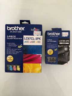 Brother MFC Ink Cartridges ( 3 Pieces Color + 2 Black ) Combo Set Original Price $130