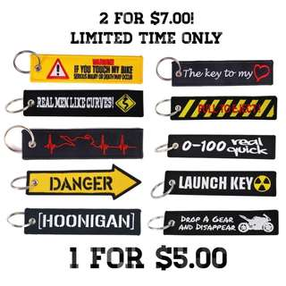 HOONIGAN / MOTORCYCLE / CAR KEY TAG KEYCHAIN [IN STOCK]