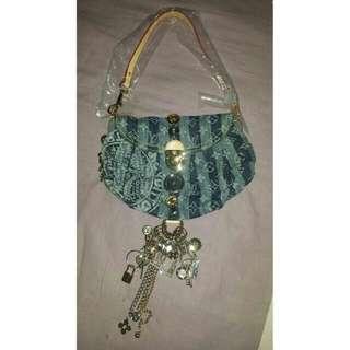Louis Vuitton Limited Edition Judy Blame Denim Mini Pleaty Raye Chains handbag RARE!