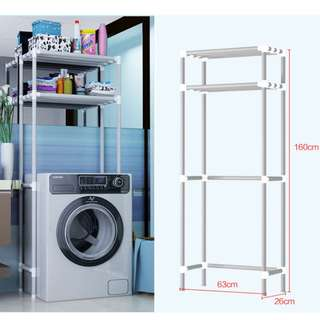 Temp out of stock 2 layers washing machine toilet bowl rack simple setup space planning width 63cm x height 160cm