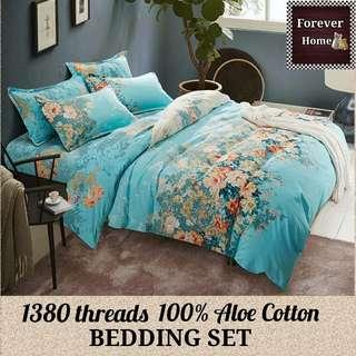 Forever Home床上用品直銷, $120起購買全新升級蘆薈棉1380針床單寢具套裝, 一套包括(床笠, 被套, 枕套) - 款式B2