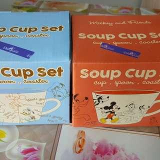 Disney soup cup set