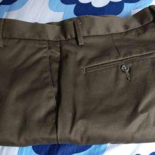 Dockers Slim Fit D1 Khakis Brown 34x30 Flat Front