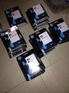 HP DesignJet 30, 90, 130 HP 85 HP 84 康麗墨盒 (六色齊全 全新未用過,有盒) 即將到期