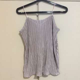 Cami pleated top (Nude)