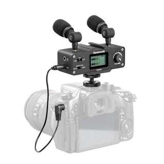 Saramonic Camixer Microphone Kit (Dual Stereo Condenser Mics, Digital Mixer, XLR/Mini-XLR Input)