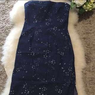 PHUTURE LONDON DENIM TUBE DRESS $25