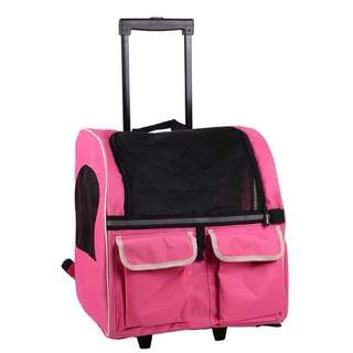 Petcomer Trolley Pet Carrier *pink* bag