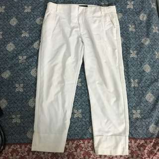 White cotton pants / celana panjang putih