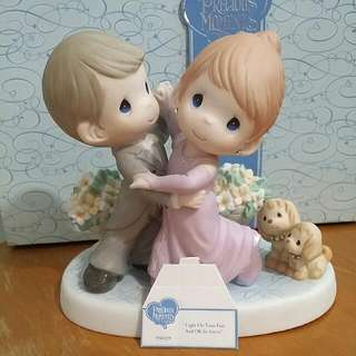 Precious Moments Dancing Couple Figurine : Licht On Your Feet And Oh So Sweet