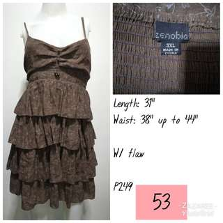 Brown Tiered Dress