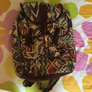 Tribal Design Bagpack