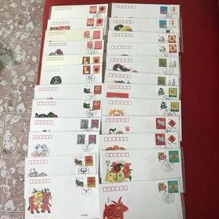 China Stamp 2nd Series Lunar Zodiac A/B FDC