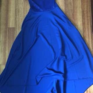 Dress biru / gaun pesta