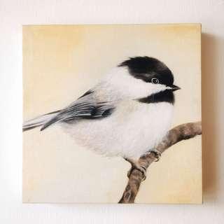 Chickadee-Oil Painting