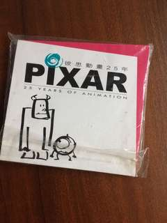 Pixar memo pad (25 years 週年版)