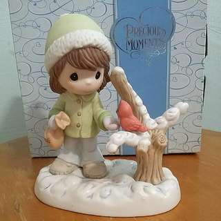 Buy 3 Get 1 Free : Precious Moments Winter Girl Figurine : Sharing The Seeds Of Love This holiday Season