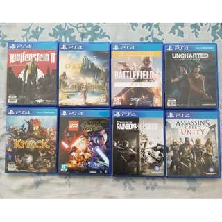 PS4 Games for sale Assassins Creed, Uncharted