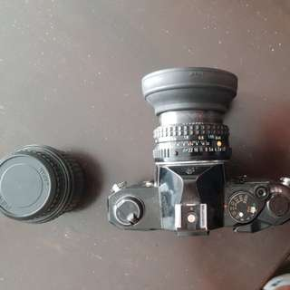Pentax MX + lenses - film camera