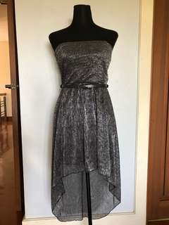 Metallic gray party dress