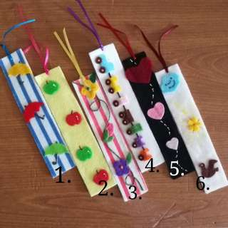 DIY kit felt bookmarks
