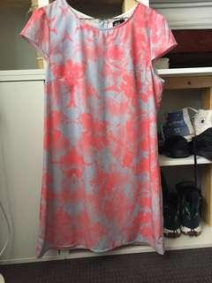 Pink and blue t-shirt dress