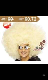 Fashion Unisex Adult & Children Afro Hair Wig - White