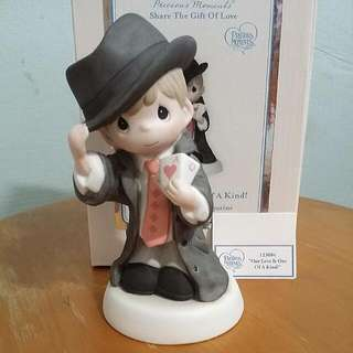 Buy 3 Get 1 Free : Precious Moments Boy With Poker Card Figurine : Our Love Is one Of A Kind
