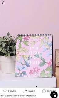 Neonmello 2018 Calendar