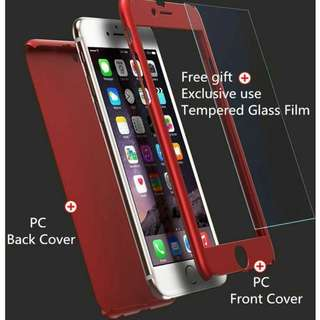 360 degree full phone case with tempered glass film