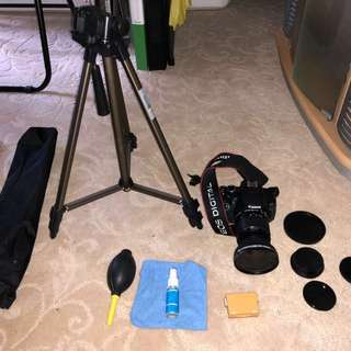 Canon EOS 650D, Lens, Tripods and. Ase