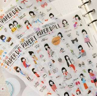 Paper Doll Korean Cute Stickers