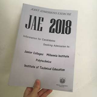 JAE 2018 information booklet