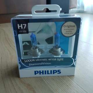 Original Philips DiamondVision H7 5000K Ultimate White Light