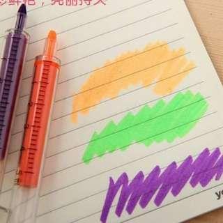 New Pen Stabillo Bentuk Jarum Suntik (Avail Ungu) Harga Satuan