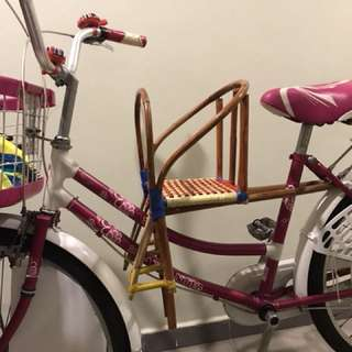 Traditional bicycle child seat