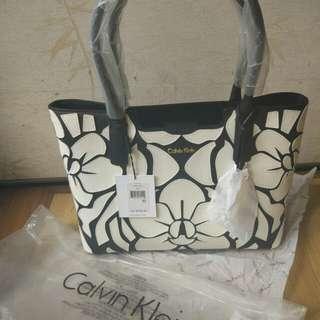 Calvin Klein saffiano novelty bag floral