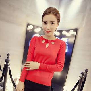 [PO] LONG SLEEVED RED TOP