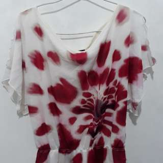 Kenneth cole flower blouse