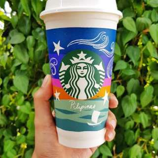 Starbucks limited edition kape vinta reusable cup