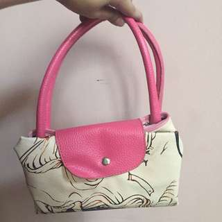Pink woman tote