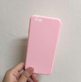 i6 i6s 粉色磨砂手機殼