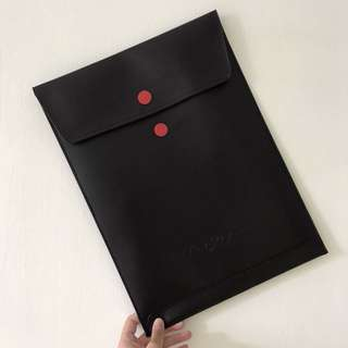 Black Leather Laptop Sleeve from Apple